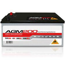 Versorgungsbatterie AGM 200 - 12 V 200 Ah 1200 A/EN Nutzfahrzeuge Solar Batterie