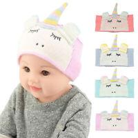 Kids Baby Knitting Unicorn Hair Band Turban Earflap Headwear Warm Accessories