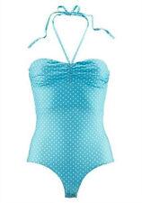 top trendy MELROSE Basic Shirt Body Bandeau Stringbody NEU türkis weiß gepunktet