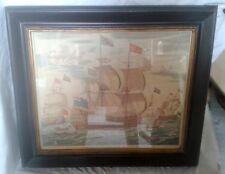 Segelschiff Seeschlacht Bild Originale der Zeit  Seefahrt & Schiffe Malerei