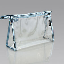 Clear Transparent Plastic PVC Travel Makeup Cosmetic Toiletry Zip Bag Pouch@@