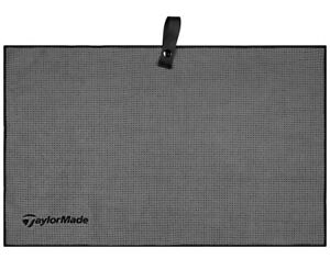 TaylorMade Microfiber Cart Towel Gray/Black B1599601 Golf Towel New