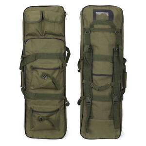 """Tactical 39"""" Case Bag Padded Fishing Rod One/Two Carbine Rifle Weapons Gun"""