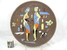 """Rare abstract 50 's Design Ruscha keramik wall plate muro plato """"Picture"""""""