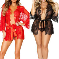 Lady Sexy Lace Lingerie Nightwear Underwear G-string Babydoll Dress Sleepwear.
