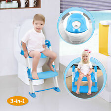 Kids Toilet Seat Toddler Potty Training Chair w/ Steps Stool Baby Toilet Ladder
