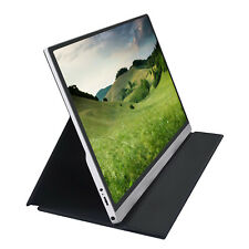 Portable Monitor 15.6'' USB Type C IPS Display Screen with Smart Case Stand