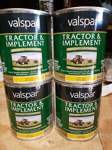 Valspar Tractor and Implement Paint JD Yellow 4 quarts/32 oz cans  = 1 Gallon