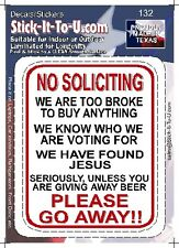 No Soliciting Beer – Decal Sticker Man Cave