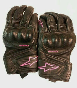 Alpinestars Stella Baika Black/Pink Women's Motorcycle Gloves Medium M 3302-0523