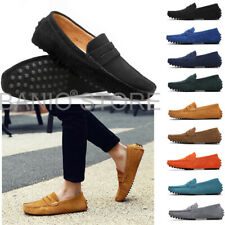 New Men Driving Loafers Suede Leather Minimalism Moccasins Slip On Boat Shoes 13
