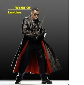 NEW Wesley Snipes Blade Trinity Genuine Leather Long Coat BNWT.
