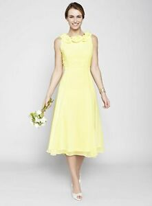 BRIDESMAID / PROM - BHS LEMON NANCY BRIDESMAID DRESS - BRAND NEW WITH TAGS