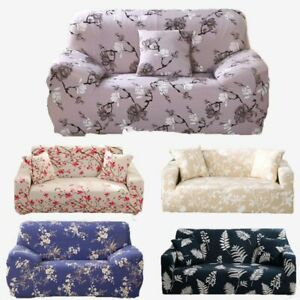Sofa Cover Spandex Elastic Polyester Printed 1/2/3/4 Seater Couch Slipcover