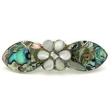 Fair Trade Abalone and Mother of Pearl Daisy Hair Barrette Artisana Mexico