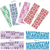 6 Sheets LEMOOC Weihnachten Nagel Wasser Stickers Wassertransfer Nail Art Lot