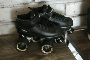 Vintage Riedell Carrera Black Speed Skates -Size 3 Youth