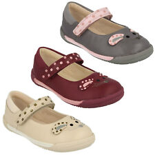GIRLS INFANT CLARKS IVA PIP FST HOOK & LOOP CASUAL MARY JANE LEATHER SHOES SIZE
