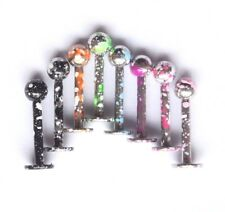 16g Speckled Colored Paint Flecked Earring Helix Labret Monroe Lip Stud ring bar