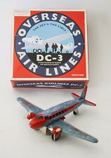 AEREO OVERSEAS DC-3 AIR LINES SPACE AGE VINTAGE REPRO GIOCATTOLO IN LATTA