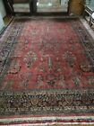 Antique Sarouk Oriental Rug 9 x 12 c1900-1920. Pickup only, Offers considered