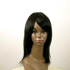 perruque AFRO femme 100% cheveux mi longue naturel noir KOKO 02/1b