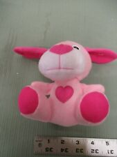 Plush Pink Dog Puppy Woof Baby Toddler Toy Loved Fun Stuffed Bark Play Heart