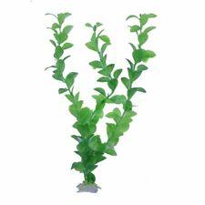 Planta Artificial Plastico Decoracion para Acuario Pecera Verde 20-28CM X7C9
