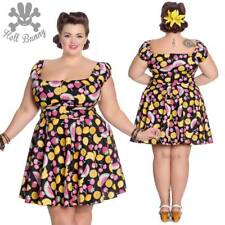 Hell Bunny Tutti Frutti Rockabilly Pinup Swing Retro Vintage Mini Dress XL-4XL
