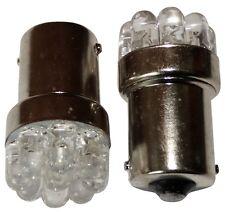 2x Ampoules 24V P21W R10W R5W 9LED blanc pour camion semi-remorque portail