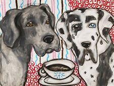 Great Dane Aceo Print Mini Pop Art Card 2.5 X 3.5 Signed Ksams Dog Collectible
