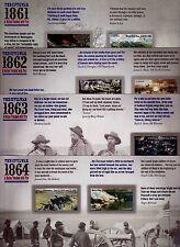 THE CIVIL WAR 1861, 1862, 1863 & 1864 US 4522-23, 4664-65, 4787-88 & 4910-11 MVF