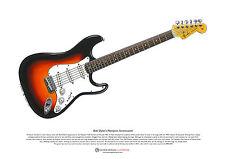 Bob Dylan 'S Newport Stratocaster Póster Arte A3 Tamaño