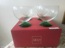 4 MIKASA/ZWIESEL Crystal Glass HOLIDAY TIME Christmas Tree Footed Dessert Bowls