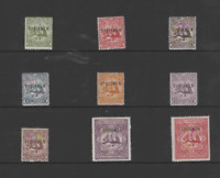 TURKS & CAICOS ISLANDS 1900 SET OF 9-SPECIMEN (SG  101s-109s) MINT