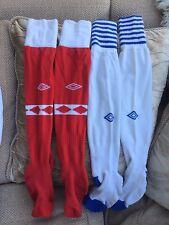 Umbro Vintage Notts Forest & Blackburn Home Football Socks Size 10-13 Great Con
