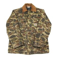 Vintage CARHARTT Camo Chore Jacket | USA Made | Camouflage Workwear Duck Button