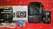 CANON EOS M10 18MP 1080P, TOUCH SCREEN + 15-45MM LENS + MUCH MORE *NEAR MINT*