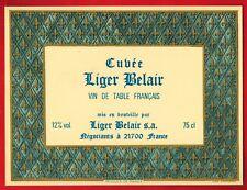 Etiquette de Vin  de Table Francais -Cuvée Liger-Belair 21700 - Réf.n°60