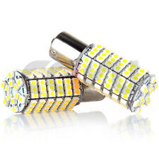 2X Warm White 1156 BA15S RV Trailer Interior 12V LED Lights Bulbs 120 SMD 5050