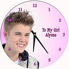 Personalized Justin Bieber Wall Clock #2