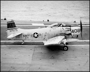 USN Douglas AD-6 Skyraider VA-35 CVA-60 Saratoga 8x10 Aircraft Photos