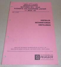 Werkstatthandbuch Peugeot 605 Motoren ZPJ - ZPJ4 Anlasssperre Jaeger Stand 4/'92