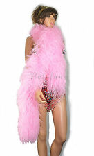 "lightweight 12 ply Pink Ostrich Feather Boa 71"" length Burlesque Costume"