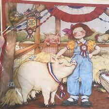Iron On Transfer Daisy Kingdom By Mary Engelbert Pig State Fair 6513 New Vintage
