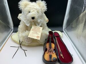Hermann Teddy Bear Angel With Violin 15 11/16in Limited Unrecorded