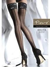 Melita stay ups Fiore 20 den Hold-Ups with a Sexy Lace Top BLACK GREY SAND WHITE