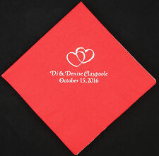 500 Wedding luncheon napkins custom printed wedding favors personalized napkins
