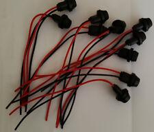 10 x T10 Lampenfassung W5W Reparatursockel mit Kabel Gummi