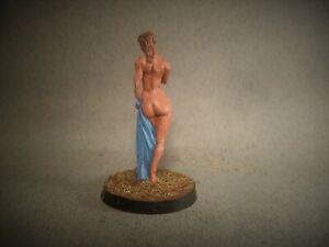 PAINTED O GAUGE FIGURE - 1:43, 7mm Scale  Lady Sunbather or Greek Goddess